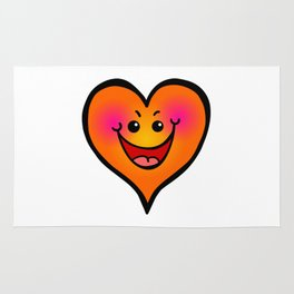 Laughing Love Heart Rug