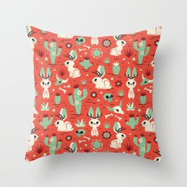 Cryptid Cuties: The Jackalope Throw Pillow
