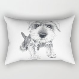 Schnozz the Schnauzer Rectangular Pillow