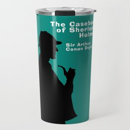 Casebook of Sherlock Holmes Book Cover Travel Mug