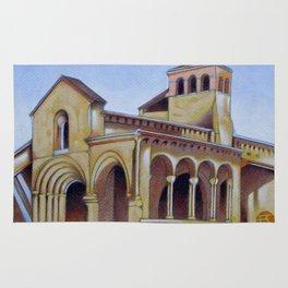 Postcard from Iglesia de la Trinidad, Segovia, Spain Rug
