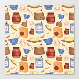 Deconstructed Peanut Butter Cookie Canvas Print