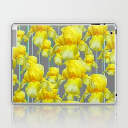 OODLES OF YELLOW IRIS GREY GARDEN ART Laptop & iPad Skin