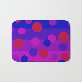 Sweet Berry Pie with Floating Circles Bath Mat