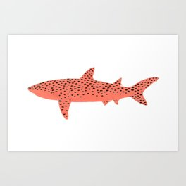 Watermelon Shark Art Print