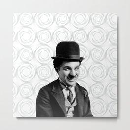 Charlie Chaplin Old Hollywood Metal Print