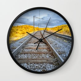 Train to Nowhere Wall Clock