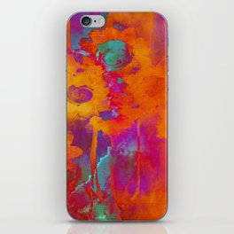 bright abstract bouquet iPhone Skin