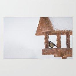 Parus Major bird Rug