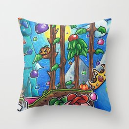 Slime rain Terraria Throw Pillow