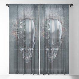 American Horror in Metal Sheer Curtain