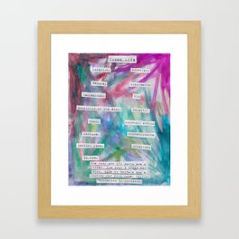 Human Life Framed Art Print