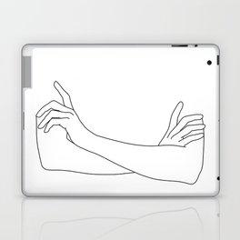 Folded arms line drawing illustration - Juno Laptop & iPad Skin