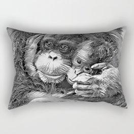 AnimalArtBW_OrangUtan_20170603_by_JAMColors-Special Rectangular Pillow