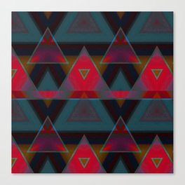 Triangle Abstract Pattern Canvas Print