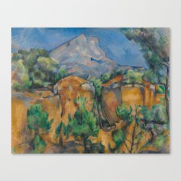 The Montagne Sainte-Victoire seen from the Bibémus quarry Canvas Print