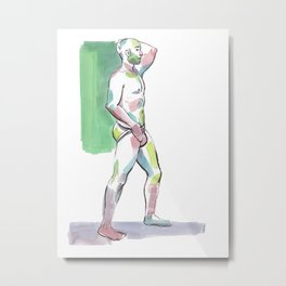 JORDAN, Semi-Nude Male by Frank-Joseph Metal Print