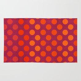 """""""Warm Burlap Texture & Polka Dots"""" Rug"""