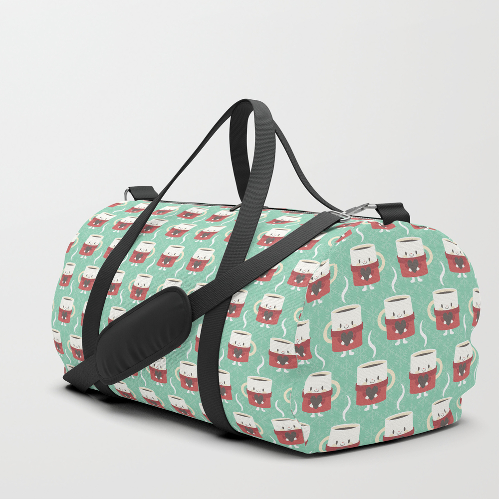 A Cute Cup Of Hot Cocoa Or Coffee Duffle Bag by Petitspixels DFL6297495