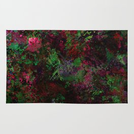 Purple Warfare - Abstract purple, pink, green and black abstract Rug