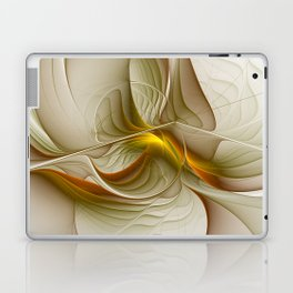 Abstract With Colors Of Precious Metals, Fractal Art Laptop & iPad Skin