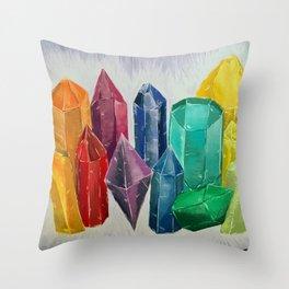 Crystal Rainbow Throw Pillow
