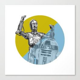 """R2D2 you know better than to trust a strange computer!"" Canvas Print"