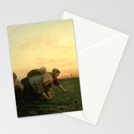 Jules Breton - The Weeders Stationery Cards