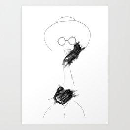 Coffee Sippin' Fool Art Print