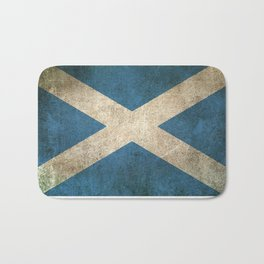 Old and Worn Distressed Vintage Flag of Scotland Bath Mat