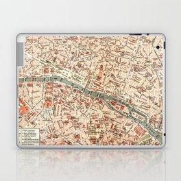 Vintage Map of Paris Laptop & iPad Skin