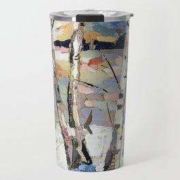 Birches in witnter Travel Mug