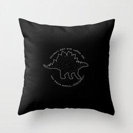 Coffeesaurus Throw Pillow