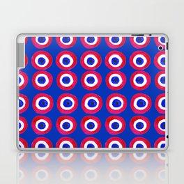 Donut Evil Eye Amulet Talisman - red on blue doughnut Laptop & iPad Skin