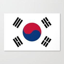 South Korean Flag Canvas Print