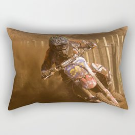 Riding in the dust Rectangular Pillow