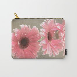 Three Pink Gerberas Carry-All Pouch