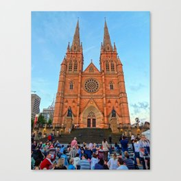 St Mary's Cathedral, Sydney Canvas Print