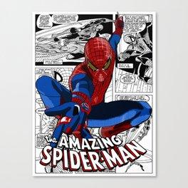 Spider-Man Comic Canvas Print