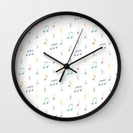 No-ta-tions Wall Clock