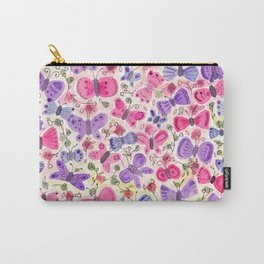 Happy Butterflies Carry-All Pouch