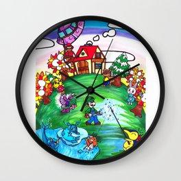 Animal crossing invasioni  Wall Clock