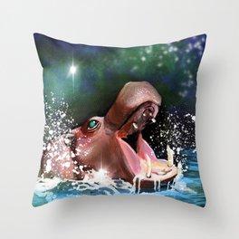 Champion Pygmy Hippo Throw Pillow