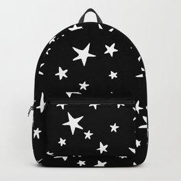 Stars - White on Black Backpack