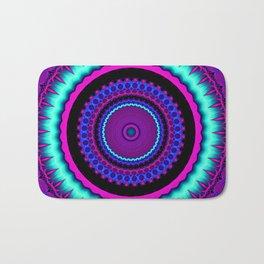 turquoise purple Mandala Bath Mat