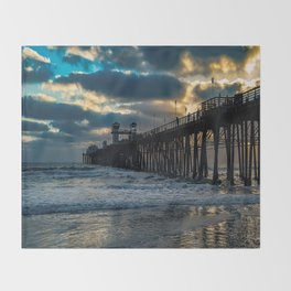South Side Oceanside Pier ~10-2015 Throw Blanket