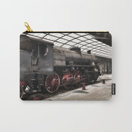 steam locomotive inside the train station Carry-All Pouch