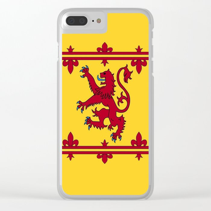 RED LION & YELLOW ROYAL BANNER OF SCOTLAND Clear iPhone Case