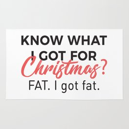 Eat Christmas Food Got Fat Gain Weight Funny Design Rug