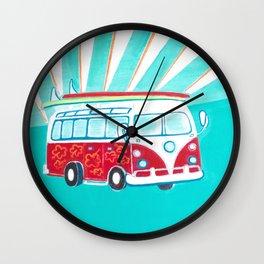 Surfer Sunrise Wall Clock
